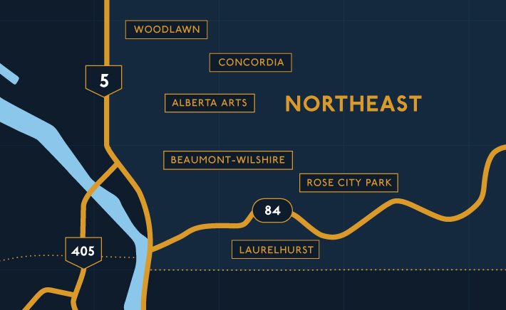 Northeast Portland Map